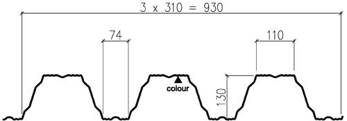 Load-bearing-sheet-T130M-75L-930-cross-section